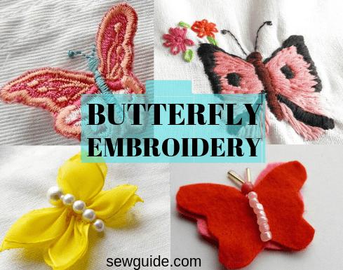 bordado de mariposas