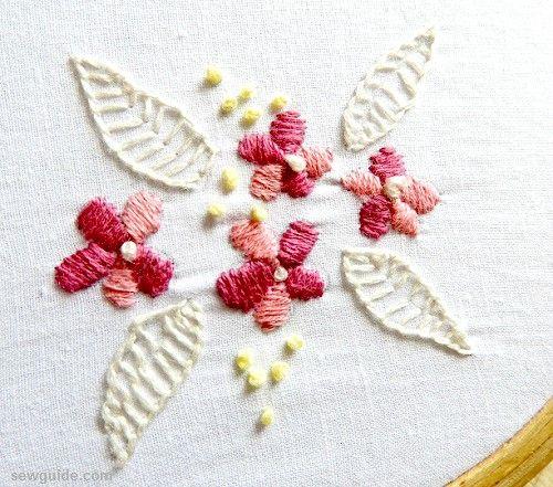 diseño de bordado de flores