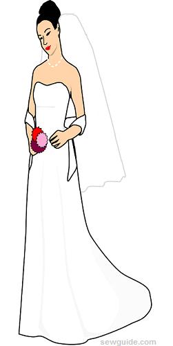 longitudes de velo de novia