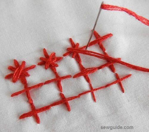 hacer textura con puntada de bordado
