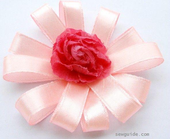 fabricación de flores de la cinta