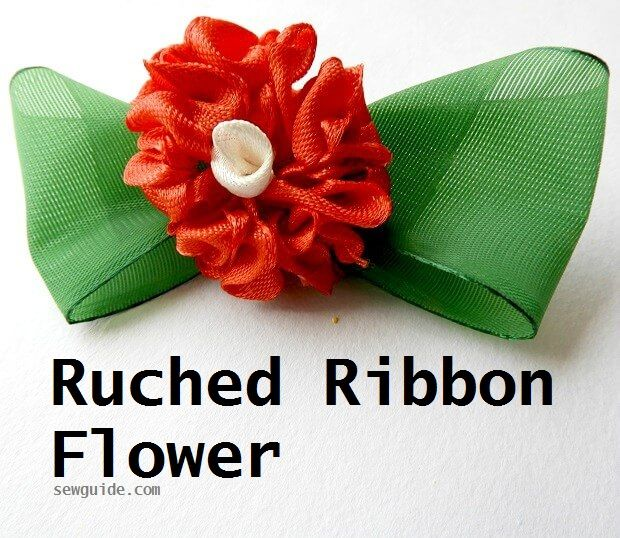 tutorial de fabricación de flores de cinta