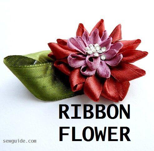 tutorial de flor de cinta