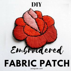 tutorial de bricolaje parche de tela bordada