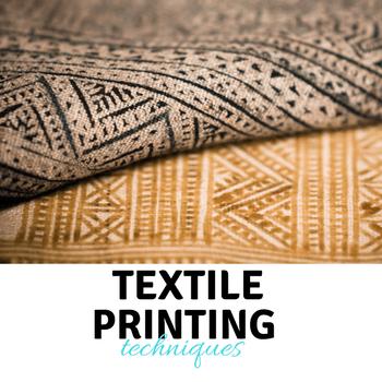 técnicas de impresión textil