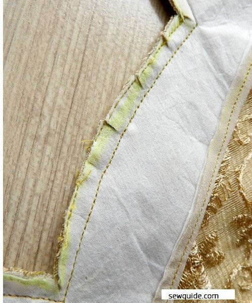 como coser un cuello de novia