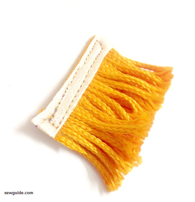coser adornos de flecos