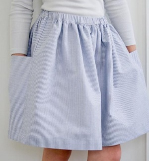 falda reunida tutorial fácil para principiantes