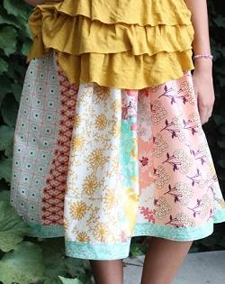 falda fácil y rápida de coser para principiantes