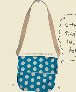 bolsa de mensajero fácil para comenzar a coser