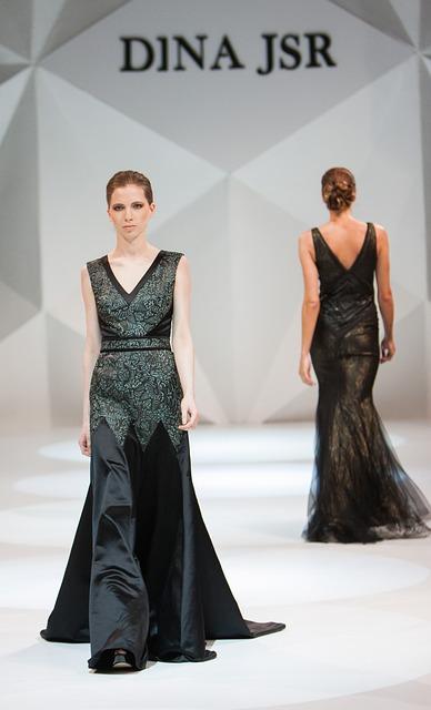 Una silueta de vestido de línea