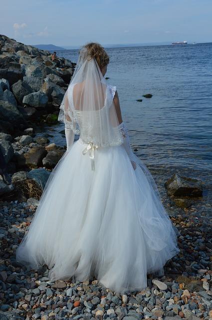 silueta de vestido de campana
