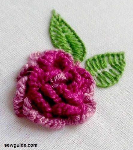 Tutorial de bricolaje con 3 flores bordadas