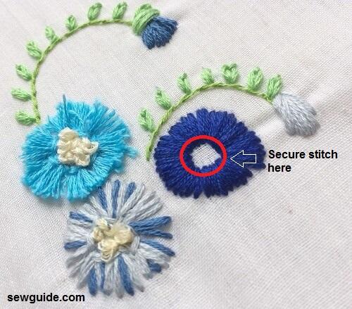Flores 3d en bordado