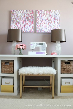 mesa de coser banco diy