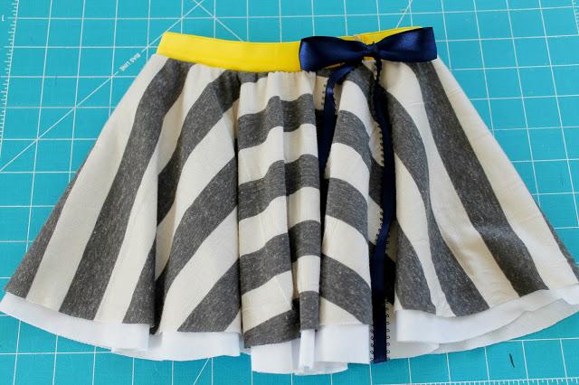 falda circular coser cómo