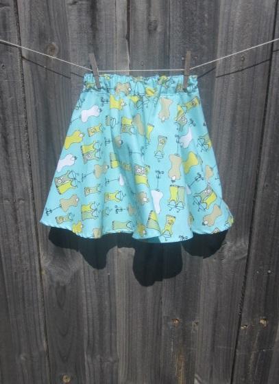 patrón de falda circular