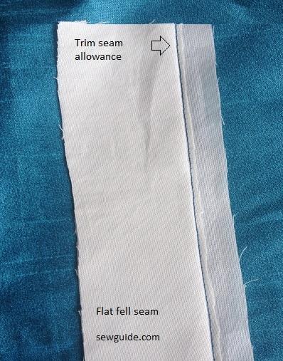 como hacer una costura plana