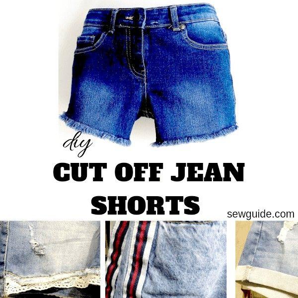 pantalones cortos de jean cortados diy