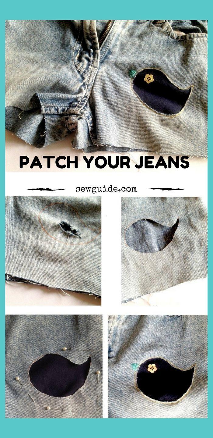 como parchar agujeros en jeans