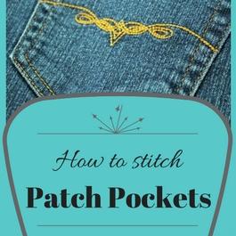 como coser bolsillos de parche