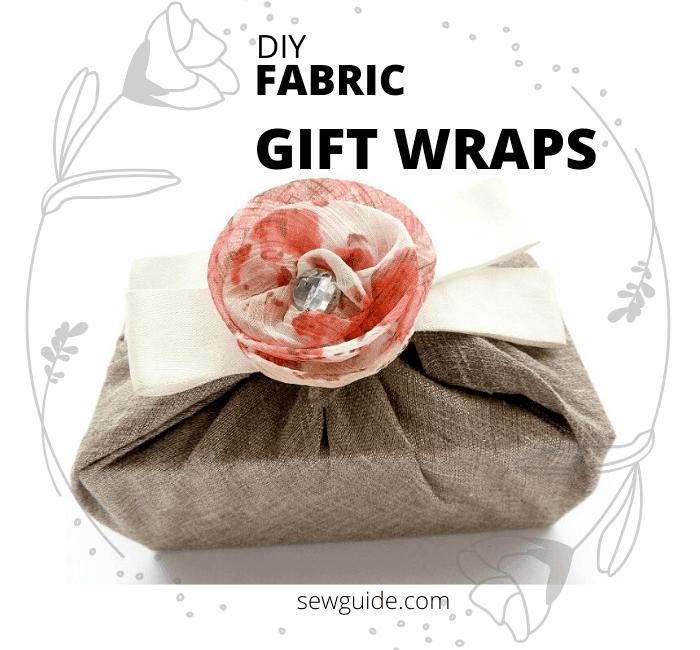 envolturas de regalo hechas de tela
