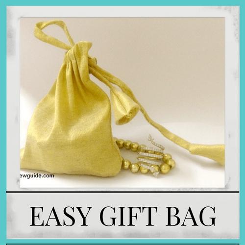 bolsa de regalo de tela