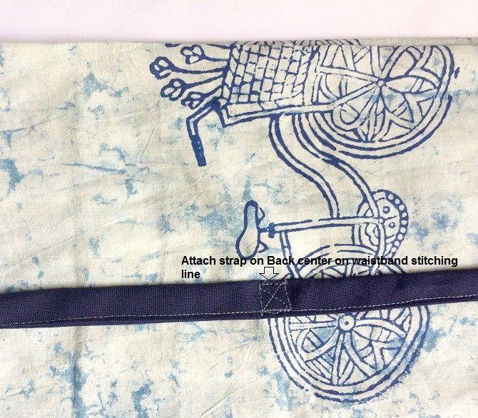 patrón de pantalones de pescador tailandés