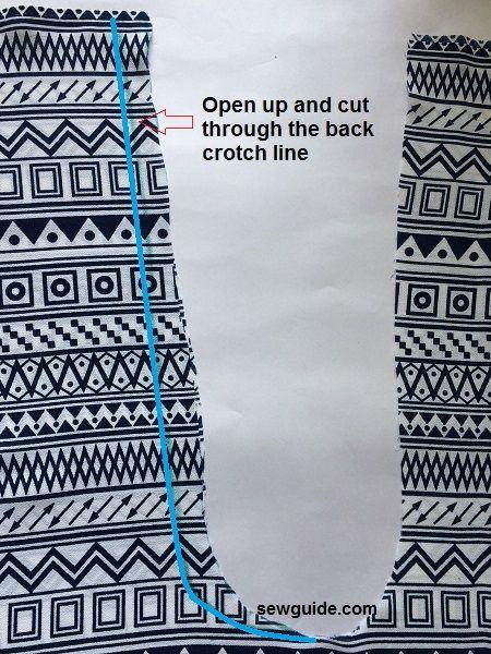 patrón de pantalones de pescador
