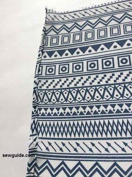 patrón de pantalones cruzados
