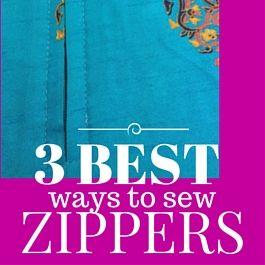 mejores formas de coser cremalleras