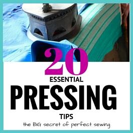 presionando consejos para coser