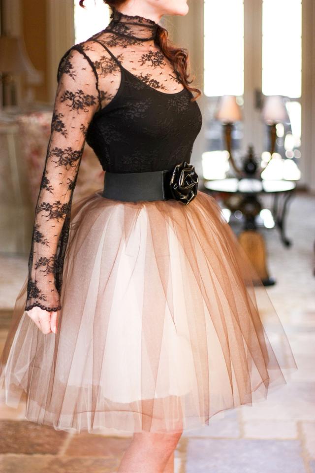 falda de bailarina de tul diy