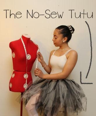 sin coser falda de bailarina