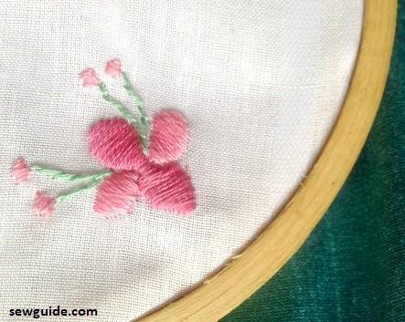 diseños de flores de bordado