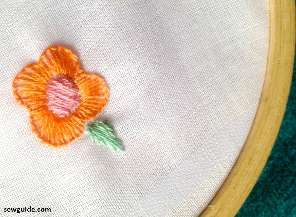 flores de bordado