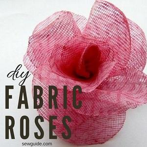 como hacer rosas de tela