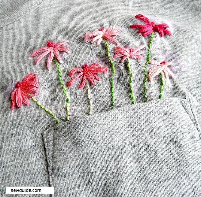 como bordar flores