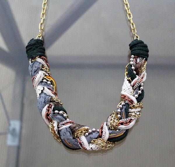 joyas trenzadas de tela