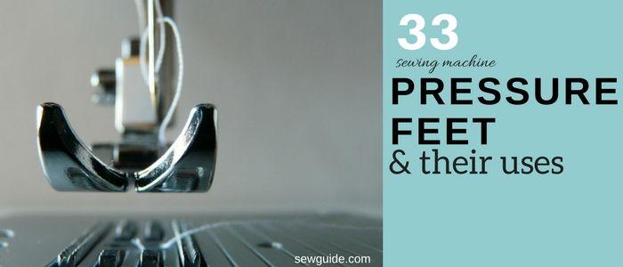guía de pies de presión de máquina de coser