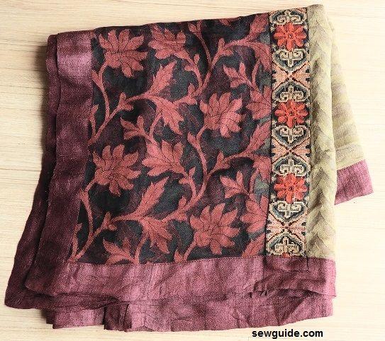 parte superior de la bufanda