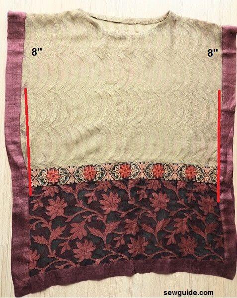 cómo convertir una bufanda en un top