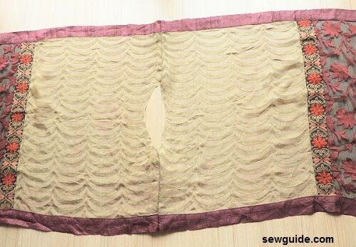 patrón de traje de bufanda