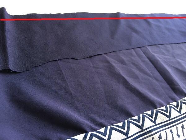 patrón de costura superior fuera del hombro