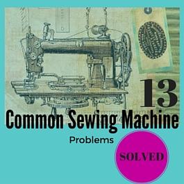 problemas de la máquina de coser