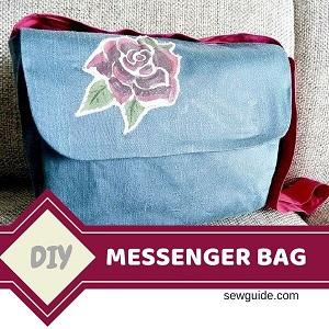 patrón de costura de la bolsa de mensajero