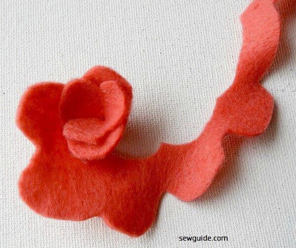 hacer fieltro rosa flor