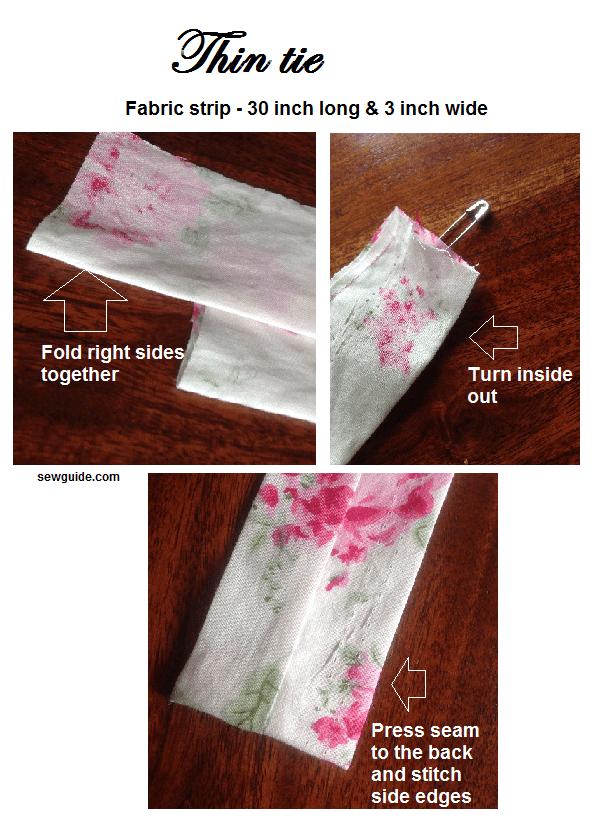 hacer corbatas para niñas