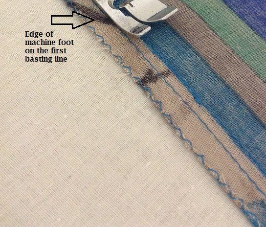 cómo coser volantes reuniendo