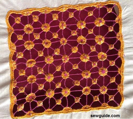 cómo coser bordados calados